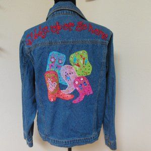 Vintage 80's Western Embellished Denim Jacket